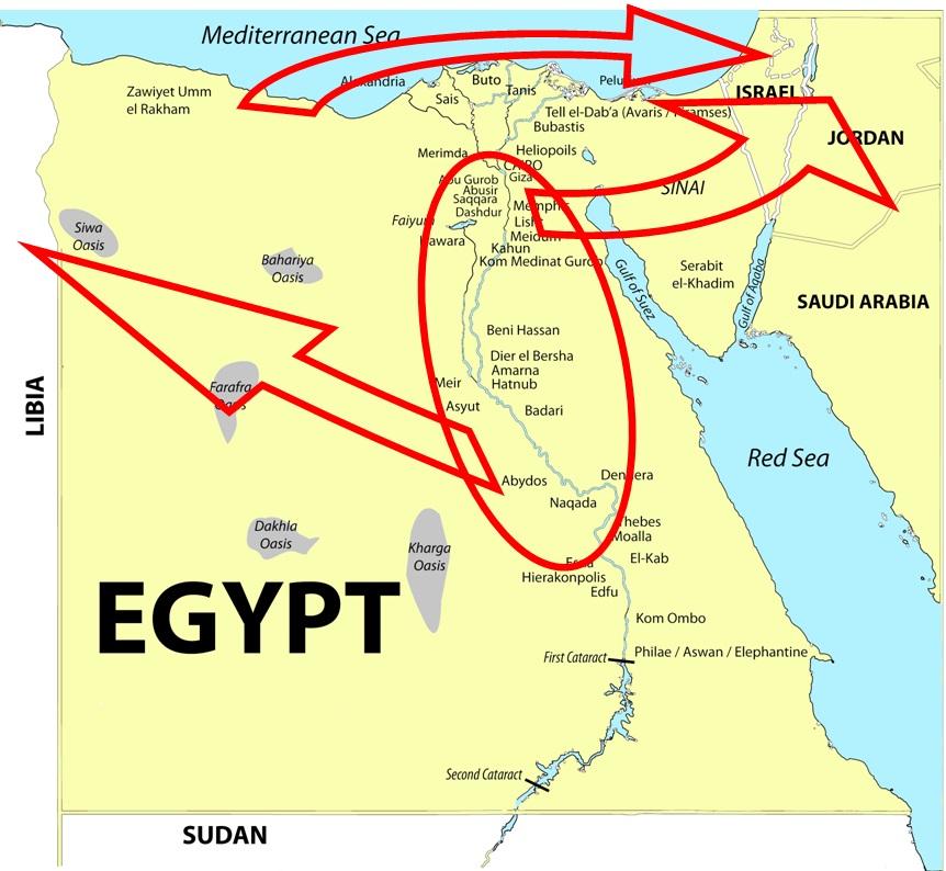 Exodus 14 directions